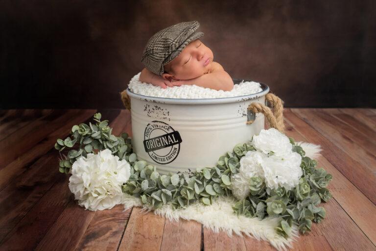 photo bébé en studio